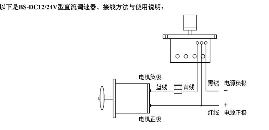 12v24v直流调速器120w以下直流电机使用(老款)